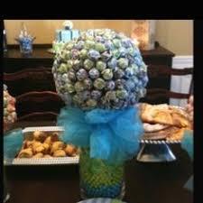 orange u0026 blue candy land centerpiece topiary tree candy buffet