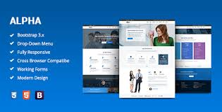 alpha business consulting and financial services html template