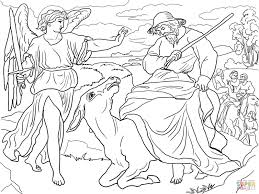 balaam and his donkey coloring page free printable coloring pages