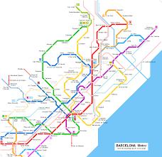 Subway Maps Barcelona Subway Map
