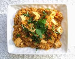 cuisiner du quinoa cooking curry de tofu lentilles corail et quinoa