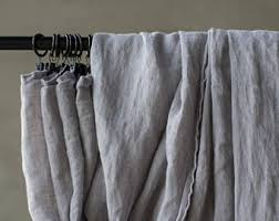 Grey Linen Curtains Gray Linen Curtains Etsy