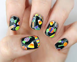 packapunchpolish halloween candy nail art with video tutorial