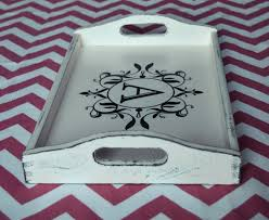 personalized serving dishes breakfast tray personalized serving trays antique white