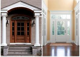 Exterior Wood Doors With Glass Panels by Front Entrance Doors Wood Entry Doorspella Doors Pella 36 In X