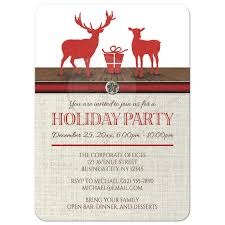 Diwali Invitation Cards For Party Party Invitations Rustic Deer Burlap Red