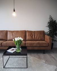 Large Brown Leather Sofa Living Room Design Brown Leather Couches Cognac Living