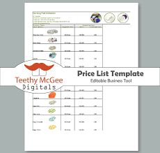 Jewelry Inventory Spreadsheet Price List Template Instant Download Editable For Wholesale