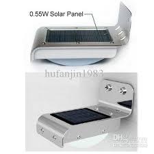 solar light wall discount pir solar powered wall l 16 led leds lights wall light