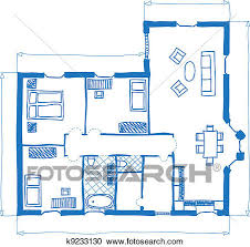 clipart of floor plan of house doodle style k9233130 search