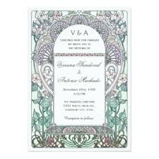 art nouveau wedding invitations u0026 announcements zazzle