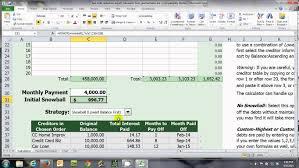 Debt Spreadsheet Pay Off Debt Fast Debt Reduction Training Free Snowball