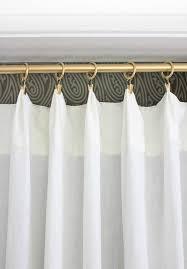 Gold Curtain Rings Replacing Bi Fold Closet Doors With Curtains Our Closet Makeover