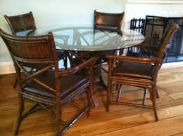 pier 1 dining room table 5pc bamboo glass dining set by pier 1
