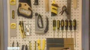video pegboard organizer martha stewart