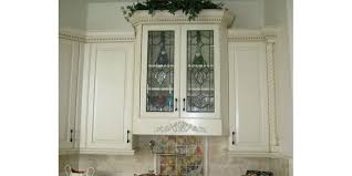 Kitchen With Glass Cabinet Doors The Beveled Edge Cabinet Doors