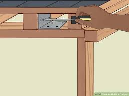 How To Build A Shed Step By Step by How To Build A Carport With Pictures Wikihow