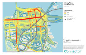 san francisco land use map subway vision connect sf