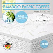 Bamboo Memory Foam Mattress Topper Bamboo Fabric Cover Memory Foam Mattress Topper Ecologic Elastic