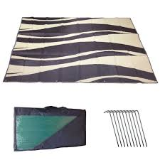 Outdoor Rv Rugs by Rv Awning Mat Reversible Outdoor Rug 9x12 Brown Tan Wave 9x12bw Ebay