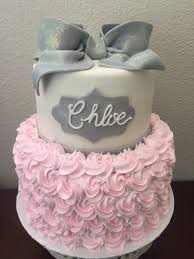 Barbie Themed Baby Shower by Pink And Gray Baby Shower Cake U2026 Pinteres U2026