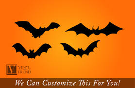 Halloween Flying Bats Bats Flying Set Of 4 Vinyl Decals For Halloween Decor 2197