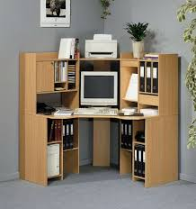 Small Desk Brown Furniture Wonderful Brown Small Corner Computer Desk With