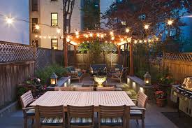 Designers Patio Circular Roof Design With String Lights Patio Transitional And San