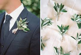 groomsmen boutonnieres soft grey blue and green inspired real wedding
