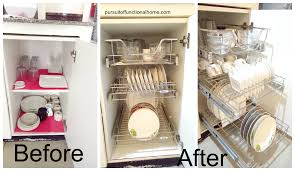 Kitchen Organizer Cabinet Shelves Fantastic Before And After Pull Out Kitchen Organizer