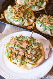 thanksgiving pizza leftovers recipe w turkey green bean casserole