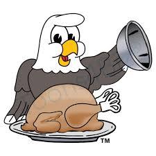 bald eagle mascot bald eagle thanksgiving turkey clip