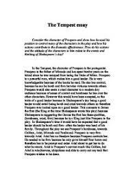 tempest essays