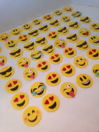 smiley emoji cupcake toppers happy face fondant annette u0027s