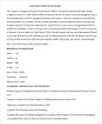 Finance Resume Sample by Finance Resumes Download 26 Free Word Pdf Documents Download