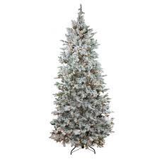 7 5 pre lit flocked slim colorado spruce artificial