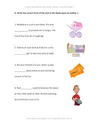free worksheets english spelling rules adding s to verbs