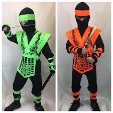 ninja costume for halloween boys neon green orange dragon ninja costume kids halloween kombat