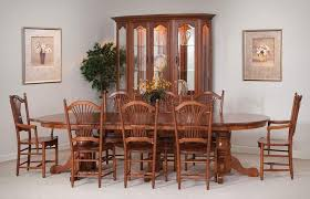 solid wood dining room sets amish dining room sets our crafted furniture 16 33 heritage