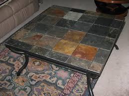 tile top coffee table stone tile top coffee table coffee table design