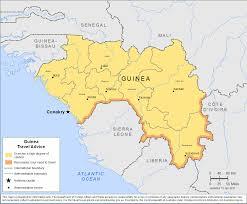Guinea Africa Map by Smartraveller Gov Au Guinea