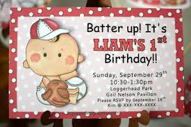baseball baby shower invitation baseball first birthday