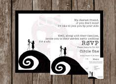 Nightmare Before Christmas Wedding Invitations Online Invitations From Disney Invitations Halloween