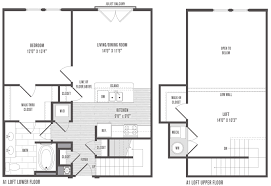 bed 1 bedroom floor plans