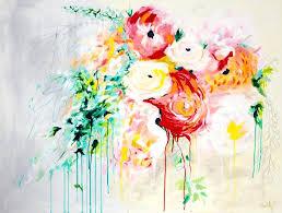 abstract flower painting art fragrant waters fl energy paintings oil