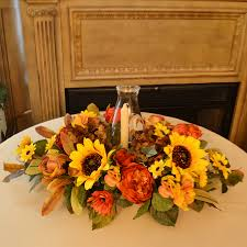 thanksgiving floral centerpiece with sunflowers ar365 floral
