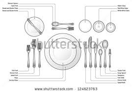 Formal Table Settings Dinner Table Setting Free Vector Stock Graphics