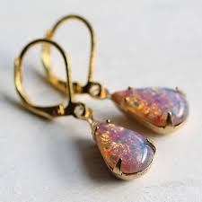 original earrings pink opal earrings by silk purse sow s ear notonthehighstreet