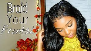 lace front box braids in memphis how to do braids on your frontal wig youtube