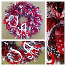 alabama ribbon 91 best wreaths images on wreaths christmas